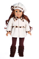 Marshmallow - 18 inch American Girl Doll Clothes - Coat, Hat, Leggings, Boots