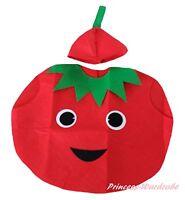Xmas Halloween School Party Yellow Mango Fruit 2pc Kids Child Unisex Costume Set