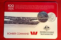 2016 Anzac To Afghanistan 20 Cent Australian Coin Carded Unc. Bomber Command