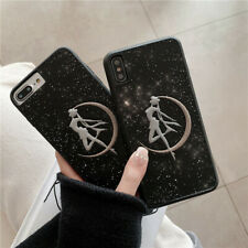 Cute Glitter Sailor Moon Girls Slim Leather Case iPhone 6 7 8 Plus X XR XS Max