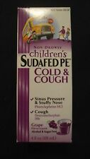 Non-Drowsy Children's Sudafed PE Cold & Cough 4 Oz Grape Alcohol & Sugar Free