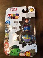 Disney Tsum Tsum 3 Pack Series 1 NEW Black Widow Captain America & Thanos N8@