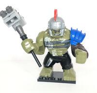 Marvel Avengers Gladiator Hulk Custom Mini Figure Big Super Hero Fits Lego