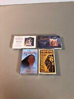 Lot Of 4 Disney Soundtrack Cassettes Pocahontas Aladdin Beauty & The Beast Lion