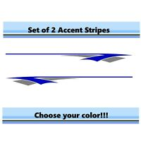 (2) RV Car Truck Pontoon Boat Trailer Side Accent Decals Graphics Stripes ST25