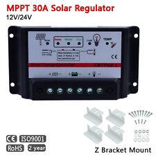 MPPT 30A Solar Regulator Controller 12-24V Thunder protection + Z Mounts Set PK