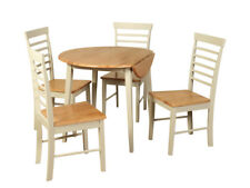 Oak Stone Painted Round Dining Set - Bergen Painted Oak Extending Dining Table w