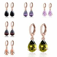 Fashion Jewelry Lady Elegant Crystal Cubic Zirconia Hoop Drop/Dangle Earrings