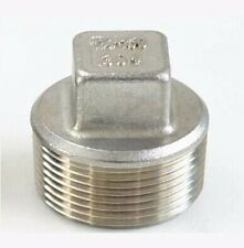 """1/2"""""""" BSP male 304 stainless steel Pipe Fitting Countersunk Plug Square Head"""