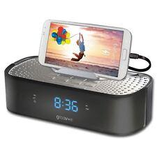 Groov-e timecurve Sveglia Radio con USB Stazione di Ricarica Nero (gvsp406bk)