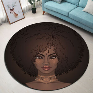 African Fashion Cool Girl Bedroom Area Rugs Yoga Carpet Floor Round Non-slip Mat
