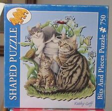 MAGGIE AND KITTENS BY KATHY GOFF SHAPED BITS & PIECES PUZZLE