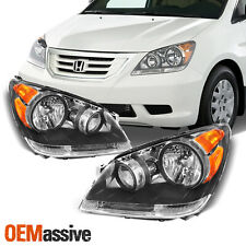 [Black] Fits 2008 2009 2010 HONDA ODYSSEY LH + RH HEADLIGHTS Headlamps