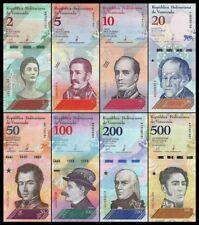 B-D-M Venezuela Full Set 2 5 10 20 50 100 200 500 Bolívares 2018 Pick New UNC