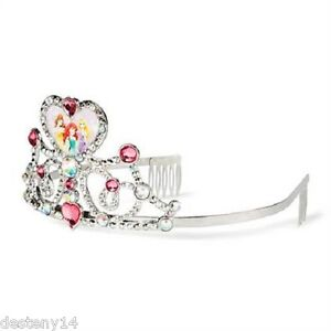 Disney Princesses Hearts & Crystals Girl's Hair Accessories Tiara One Size New