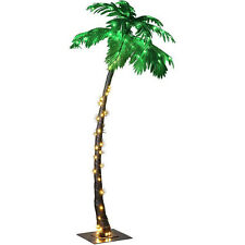Large Lighted Palm Tree 7ft 96 LED In Door Artificial Tropical Plant Home Decor