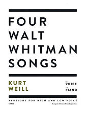 Four Walt Whitman Songs Versions for High and Low Voice Vocal Book NEW 049019831