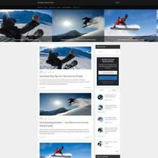 SNOWBOARDING STORE - Mobile Friendly Responsive Website Business For Sale