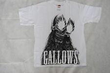 Gallows crâne yeux de feu jeunesse T Shirt 10-12 ans nouveau officiel gris Grande-Bretagne RARE