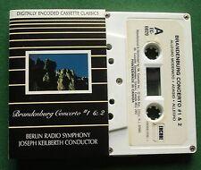Bach Brandenburg Concerto Nos 1 & 2 Berlin Radio S/O Cassette Tape TESTED