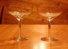 "(2) ORREFORS CRYSTAL "" PRELUDE "" CHAMPAGNE / SHERBET GLASS  5 1/4"""