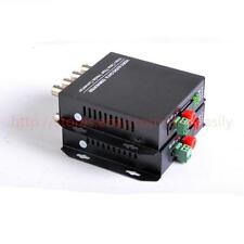 1Pair 4 CH Video Data Fiber Optic Media Converter Transmitter Receiver
