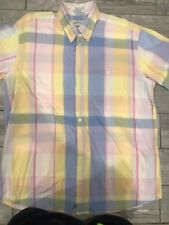 Orvis Sporting Traditions Men's Short Sleeve Button Up Plaid Shirt Size Xl