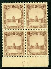 China 1937 Manchukuo 3 Fen Block Plate #17 MNH X592