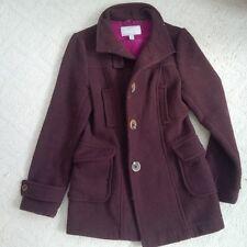 Women's Old Navy brown and magenta Wool Blend Coat Size M medium