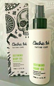 ELECTRIC INK Tattoo Care Defining Body Oil 110ml For Healed Skin BNIB