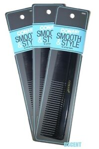 """3 Pack of Conair Smooth & Style Hair Comb 7"""" For All Hair Types"""