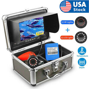 7 Inch 30M 24 LEDS Underwater Visual Fish Finder Surveillance For Ice/Sea/River
