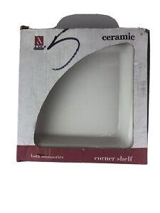 Dal-Til Ceramic Tile Shelf Corner White New 01008A780CC1P Bathroom Remodel