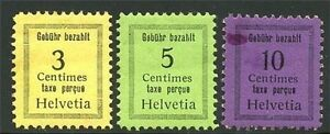 SWITZERLAND TAX STAMPS MH HR OG
