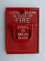 Vintage Faraday Break Glass Fire Alarm Pull Station Man Cave Fire Signal
