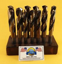 "Drill Hog 13 Pc Silver Deming Drill Bit Set 17/32""-1"" USA MADE Lifetime Warranty"