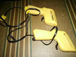 2 Aurora Slot Car Track Toy Yellow Gun Controllers