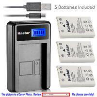 Kastar Battery LCD USB Charger for Nikon EN-EL5 MH-61 & Nikon Coolpix P3 Camera