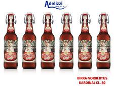 6 Bottiglie NORBERTUS KARDINAL CL. 50 Birra TEDESCA DOPPIO MALTO ROSSA ALC. 7,5%