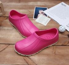 Non-Slip Chef Shoes Eva Clogs Water Safety Hospital Kitchen Comfort Pink Woman