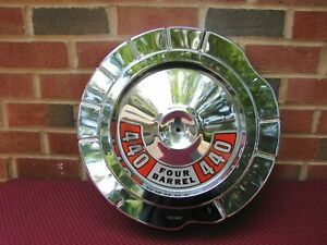 67 68 DODGE PLYMOUTH 383 440 HP UNSILENCED CHROME AIR CLEANER LID......NICE!!!