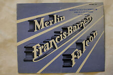 FRANCIS-BARNETT MERLIN and FALCON 1952 brochure sales catalog - Canadian market
