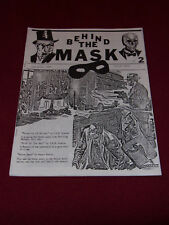 Behind the Mask #2 (1989) Pulp adventure reprint fanzine Fading Shadows Echoes