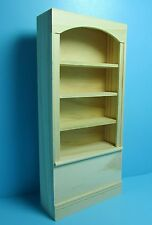 Dollhouse Miniature Unfinished 4 Shelf Bookcase in Wood ~ HW5010