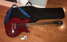 Washburn Red Idol Guitar (M10100412) w/ Case & Automatic Guitar & Bass Tuner