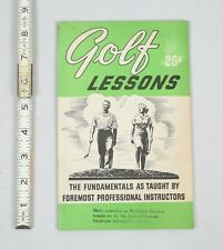 Vintage 1952 National Golf Foundation Golf Lessons Pamphlet Brochure