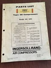 SPIRO-FLO AIR COMPRESSOR PARTS SERVICE  INGERSOLL-RAND TYPE 30 20T 20T2