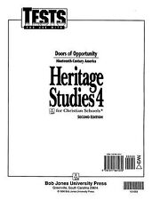 HERITAGE STUDIES FOR CHRISTIAN SCHOOLS 4 (STUDENT TESTS) 2ND ED. (P) [Paperback