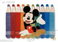 """Tappeto Topolino """"Matite"""" Mickey 115x168cm Taftato a Mano Cameretta Disney"""