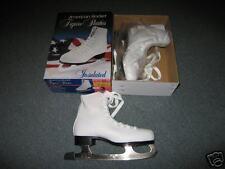 AMERICAN ROCKET FIGURE SKATES-GIRL'S-WHITE-BRAND NEW